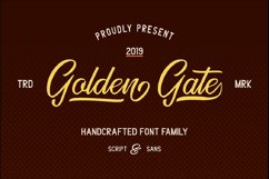 Golden Gate | Handcrafted Font Familyy Product Image 1
