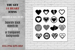 Hearts SVG Icons Pack Product Image 2