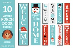 10 Christmas Porch door signs bundle, welcome signs Product Image 1