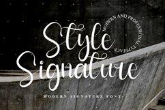 Style Signature - Modern Signature Font Web Font Product Image 1