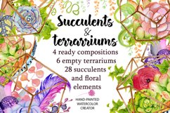 Spring Sale succulents & cactuses watercolor bundle 75% OFF! Product Image 5