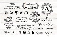 Wedding SVG bundle signs plus clipart Product Image 1