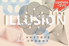 Illusion linear geometric shapes. Ai/SVG/PNG Product Image 1