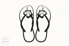 Hibiscus Flip Flops/ 1 Product Image 5