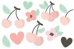 Cute Cherry Clipart Vector Product Image 1