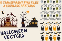 Halloween SVG- Pumpkin, Houses, Witch, Trees, Spider, Ghost Product Image 4