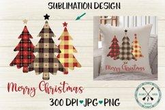 Plaid Christmas Tree Trio Sublimation Design Product Image 1