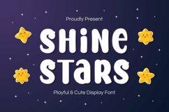 Web Font Shine Stars Font Product Image 1