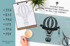 Kids Hot Air Balloons - SVG DXF PNG EPS JPG PDF Cutting File Product Image 4