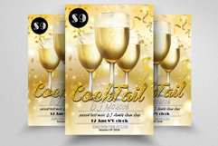 10 Summer Beach Cocktail Party Flyers Bundle Product Image 4