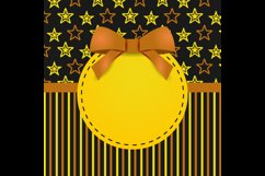 Greeting Card Template Design with Star Graphic Product Image 1