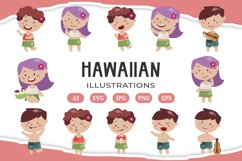 Hawaiian Luau illustrations Product Image 1