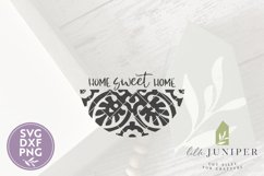 Home Sweet Home SVG Files, Round Tile Sign SVG Product Image 2