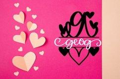 Web Font A Heart Split Monogram Font Product Image 5