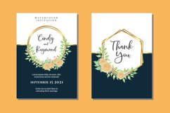 Vintage Floral Wedding Watercolor Invitations Card SVG Product Image 1
