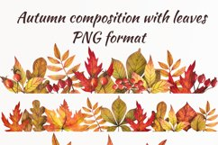 Watercolor autumn leaves, clipart Product Image 5
