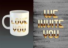 Golden palace - metallic font Product Image 3