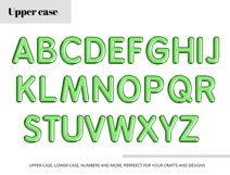 Green Foil Balloon Letters Numbers & Symbols Clipart Product Image 3