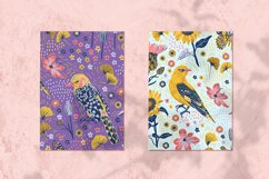 Blossom Birds Vector Seamless Pattern Product Image 2