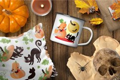 CRAZY HALLOWEEN Hand Drawn Flat Style Vector Set Product Image 3