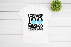 I Survived 100 Masked School Days SVG files for Cricut Product Image 2