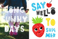 Summer Day Typeface with Clipart! Product Image 5