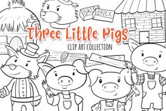 Three Little Pigs Digital Stamps Product Image 1