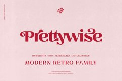 Prettywise Modern Retro Font Product Image 1