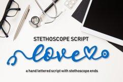 Stethoscope Script - A Nurse Font Product Image 1