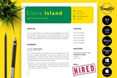 Creative Resume CV Template for Word & Pages Elena Island Product Image 1