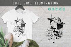 Cute Girl Illustration Product Image 1