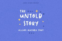 The Untold Story   Quotable Font Product Image 1