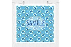 Blue Floral Digital Paper Pack Product Image 5