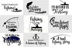 Fishing quotes bundle svg, fish shirt decal SVG,EPS,PNG,DXF Product Image 2