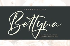 Bettyna   Handwriting Script Font Product Image 1