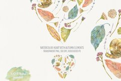 Heart of Autumn. Watercolor compositions Product Image 4