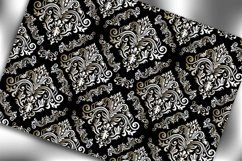 Seamless Damask Wallpaper. Black and white digital paper. Product Image 3