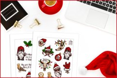 Creepy Christmas & Heavy New Year Stickers, Christmas PNG Product Image 6