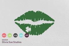 Shamrock Clover Kiss St Patricks Day SVG Cut File Product Image 1