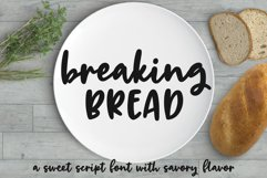 Breaking Bread - a chunky script font! Product Image 1