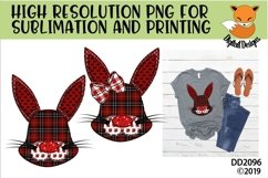 Canadian Country Faux Patchwork Rabbit Sublimation Product Image 1