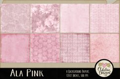 Shabby Pink Scrapbook Papers - Ala Pink Background Papers Product Image 2