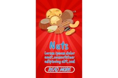 Nuts concept banner, comics isometric style Product Image 1