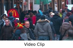 Video: People Walking by Fast Food Restaurant Product Image 1