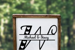 Split Letters A-Z - 26 split monogram files - Hearts Product Image 3