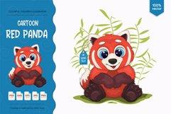 Big cartoon red panda. Product Image 1
