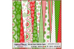 Red and Green Collection Papers 1 Product Image 1