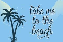 Beach Umbrella - Handwritten Script Font Product Image 5