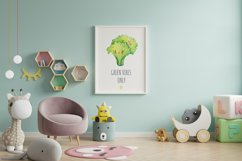Cute vegetables clipart. Digital paper set Product Image 6