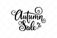 Autumn Sale - Fall Lettering   SVG Cut file   Vector EPS Product Image 2